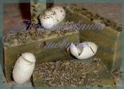 Мило ручної роботи Гірська лаванда з шовком