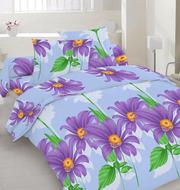 Купить постельное белье Украина,  Комплект полуторный «Ромашки»
