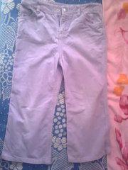 Штаны вельветовые светло фиолетовые на 3, 4 года