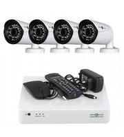 Комплект Відеоспостереження GreenVision На 4 Вуличних FullHD Камери