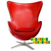 Кресло Эгг (Egg),  кожзам,  регулируется,  цвет красный