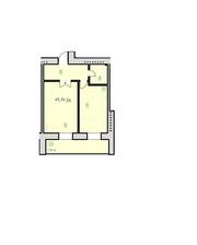 1-кімнатна квартира в новобудові. ЖК Ювілейний